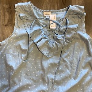 Avenue NWTags blue lace up dress with stars